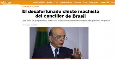 Serra não se emenda e faz piada machista na frente da chanceler mexicana