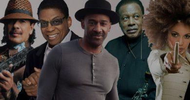 Santana, Herbie Hancock, Wayne Shorter, Marcus Miller e Cindy Blackman na mesma banda