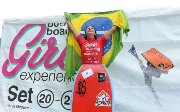 Neymara Carvalho fatura Bodyboard Girls Experience, na Ilha da Madeira