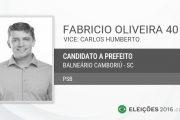 """Candidato Fabricio Oliveira PSB e seu parceiro do """"Balneário de Novas Ideias"""" terão que pagar multa no valor de R$ 5 mil"""